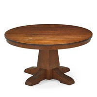 pedestal dining table by gustav stickley