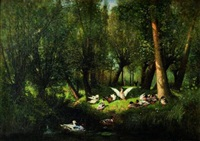 canard dans un bois by albert f.a. laurens