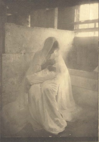 the manger from camera work no1 by gertrude kasebier