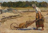 woman pushing a cart by venny soldan-brofeldt