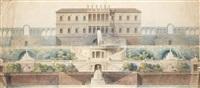 villa avec des jardins à étages (plan) by pierre marnotte