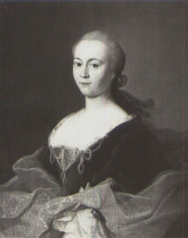 portrait of a lady said to be madame goutier de houlter by georg caspar von prenner