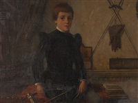 portrait of a boy by heinrich ewers