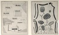 zwei bll. fax ausdrucke by david hockney