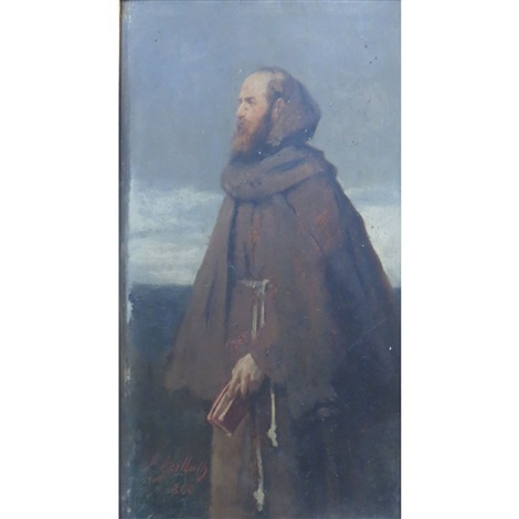 portrait of moritz hartmann as pfaff mauritius the priest mauritius by ferdinand heilbuth