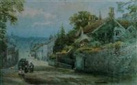 honiton high street, devon by alfred leyman