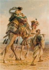 maternité sur un chameau by carl haag