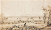 view of montreal from the island of st. helens by james d. duncan