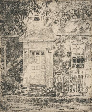 portsmouth doorways by childe hassam