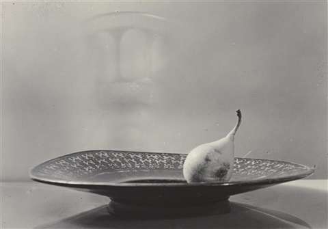 pear on a plate by josef sudek