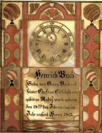 birth certificate for henrich buch by samuel bentz ('mount pleasant artist')
