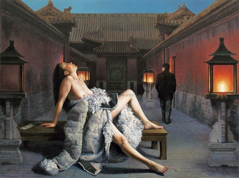 evening by liu jincheng
