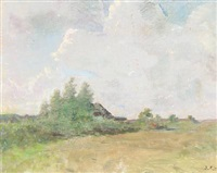 summer landscape by julius paulsen