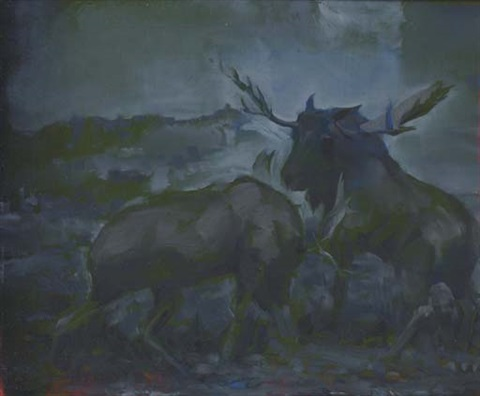 untitled two moose by mark innerst