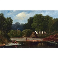 the fishing camp by william raphael