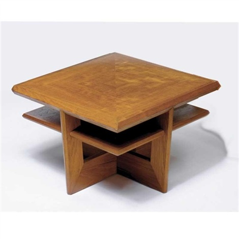 table from the living room of shizuka na uchi the kessler residence maplewood new jersey by john rattenbury skeaping