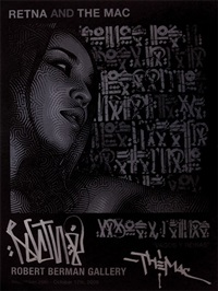 vagos y reinas exhibition poster by el mac and retna