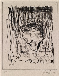ohne titel (portfolio of 8) by georg baselitz