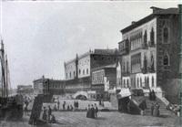 le quai des esclavons et le palais des doges à venise by alexandre raulin