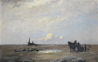 on the sands of scheveningen by nathaniel hone the younger