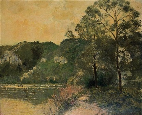 soleil couchant by georges manzana pissarro