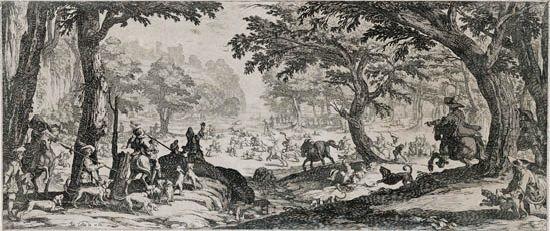 la grande chasse by jacques callot