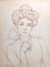 portrait de la comtesse de la rochefoucauld by hubert de la rochefoucauld
