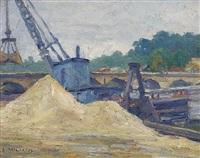 crane on the seine by stelios miliadis