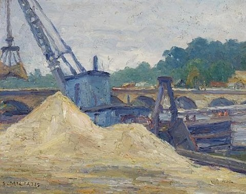 crane on the seine by stelios miliadis