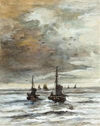 binnenvaren van de vissersvloot by charles paul gruppe