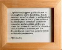 ex libris (n.f.f.l) (diptych) by joseph kosuth