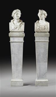 les muses euterpe et calliope (pair) by jean raon