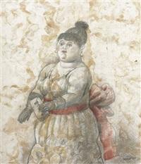 society lady by fernando botero