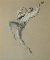 harlequin by sir daryl ernest lindsay