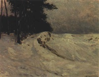 winterlandschaft by adolf zrdazila