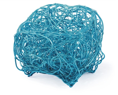 turquoise wire chair by forrest warden myers