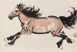 一马当先 horse by xu beihong