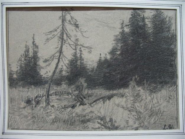 waldlichtung by wilhelm maria hubertus leibl