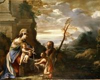 sacra famiglia con san giovannino by sisto badalocchio