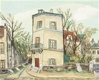 village scene by alphonse léon quizet