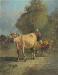 paysage au boeuf by andré cortes
