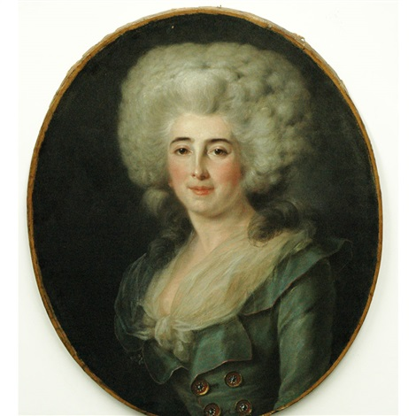 portrait of a lady by françois hubert drouais
