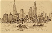 view of new york from brooklyn by william c. mcnulty