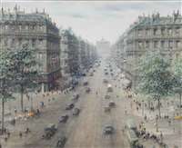 avenue de l'opera, paris by paul gagni