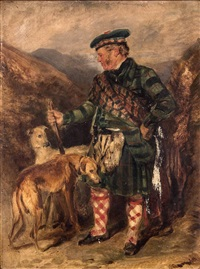 self-portrait with dogs by sir edwin henry landseer