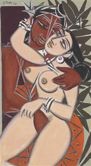 untitled (lovers) by george keyt