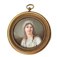 portrait of a woman by louis ami arlaud-jurine