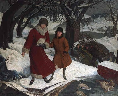 no 1 winter feeding the ducks by john e nicholls