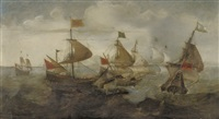 a naval battle between turks and christians by andries van eertvelt