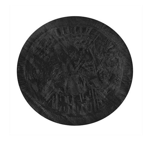 untitled black tondo head by francis newton souza